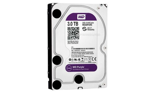 Купить  Жесткий диск Western Digital Purple 3TB  в Киеве