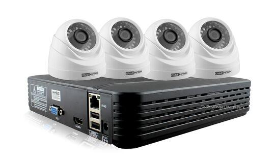 Купить Комплект видеонаблюдения 4 камеры 1.3mp для дома в Киеве