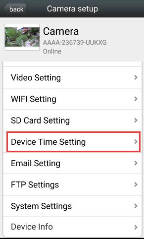 Настройка даты в wifi камере camhi