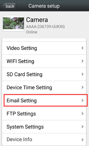 Настройка отправки уведомлений с камеры на email