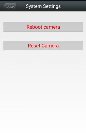 Сброс на заводские настройки wifi камеры