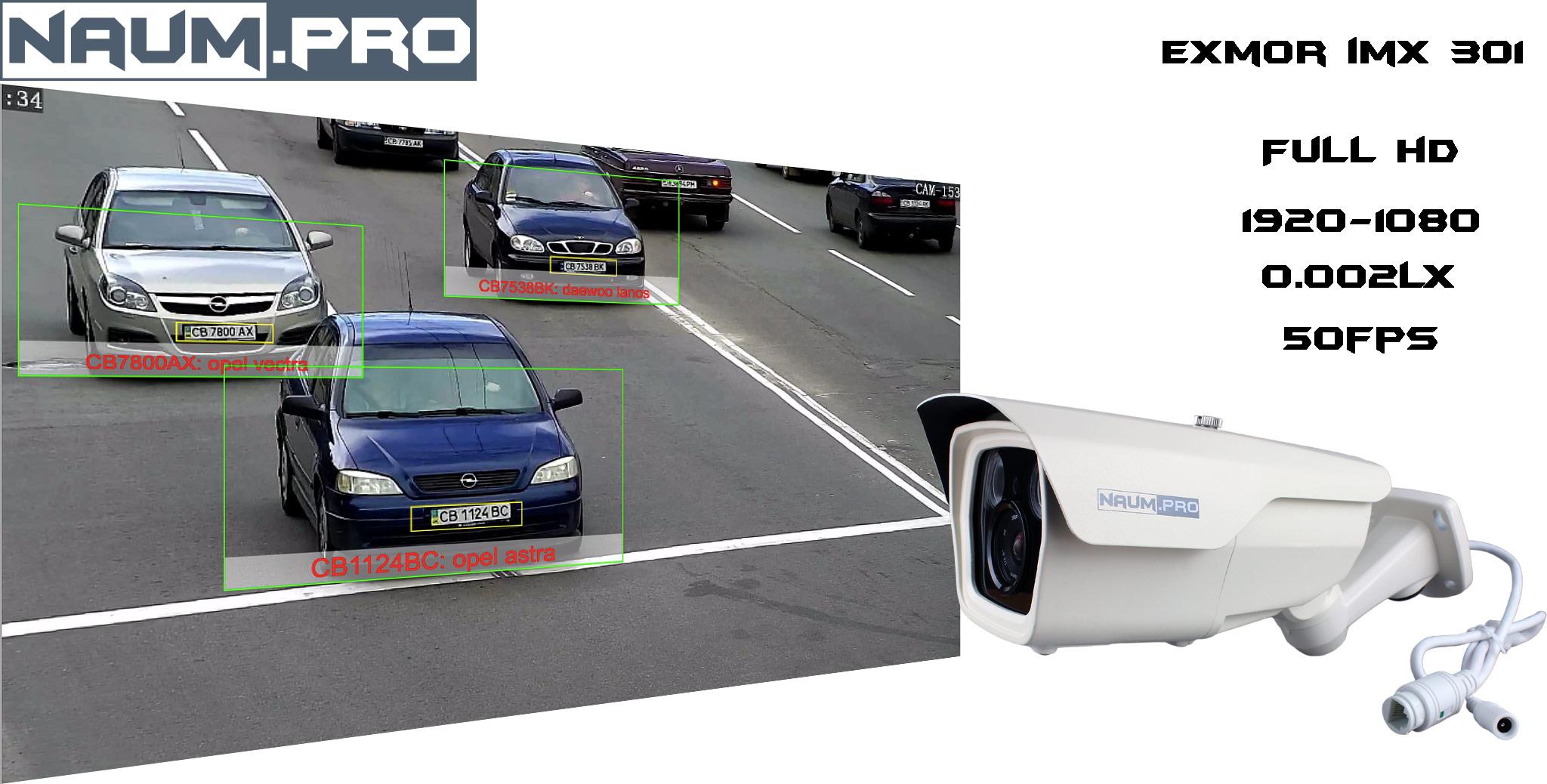 IP камера для детекции номеров автомобиля
