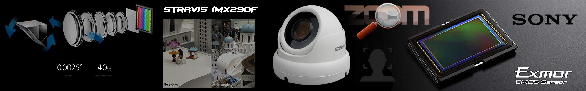 Высокочувствительная IP камера работает по технологии Starlight Starvis imx290