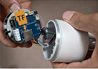 Уличная wifi камера установка micro cd карточки