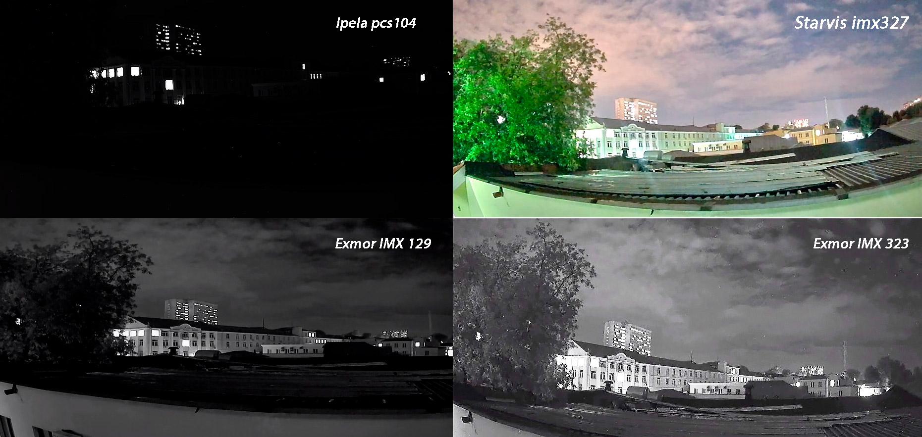 Сравнение сенсора imx327