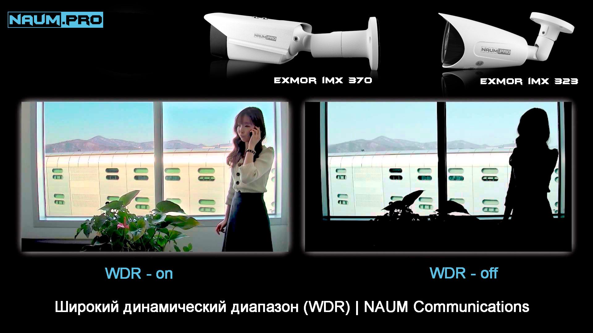 WDR в IP камерах NAUM Exmor imx