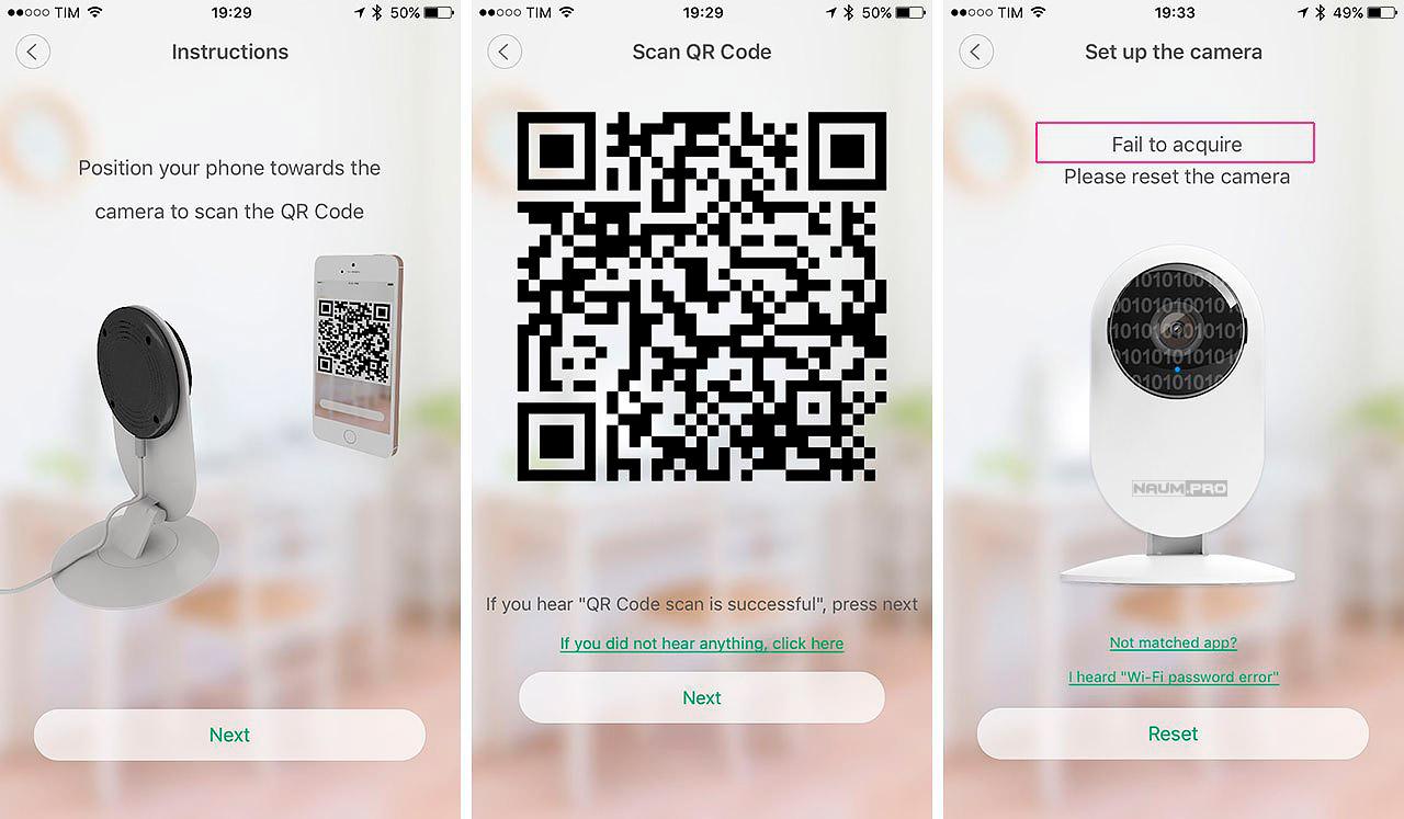 Быстрое подключение ip камеры через QR код