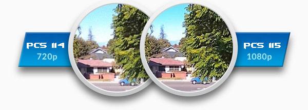 Сравнение разрешения wifi камер 720p и 1080p