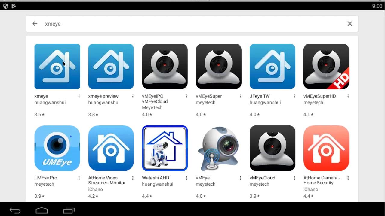 Много приложений для видеорегистратора XMeye