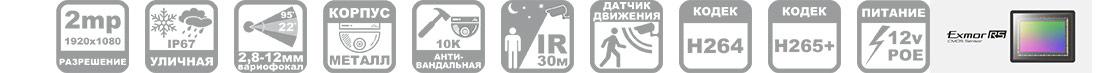 IP камера антивандальная R52