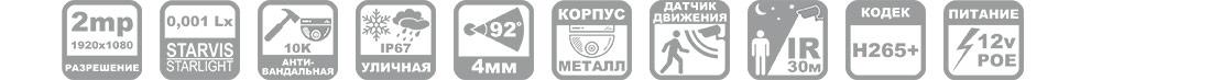 Ip камера антивандальная R53