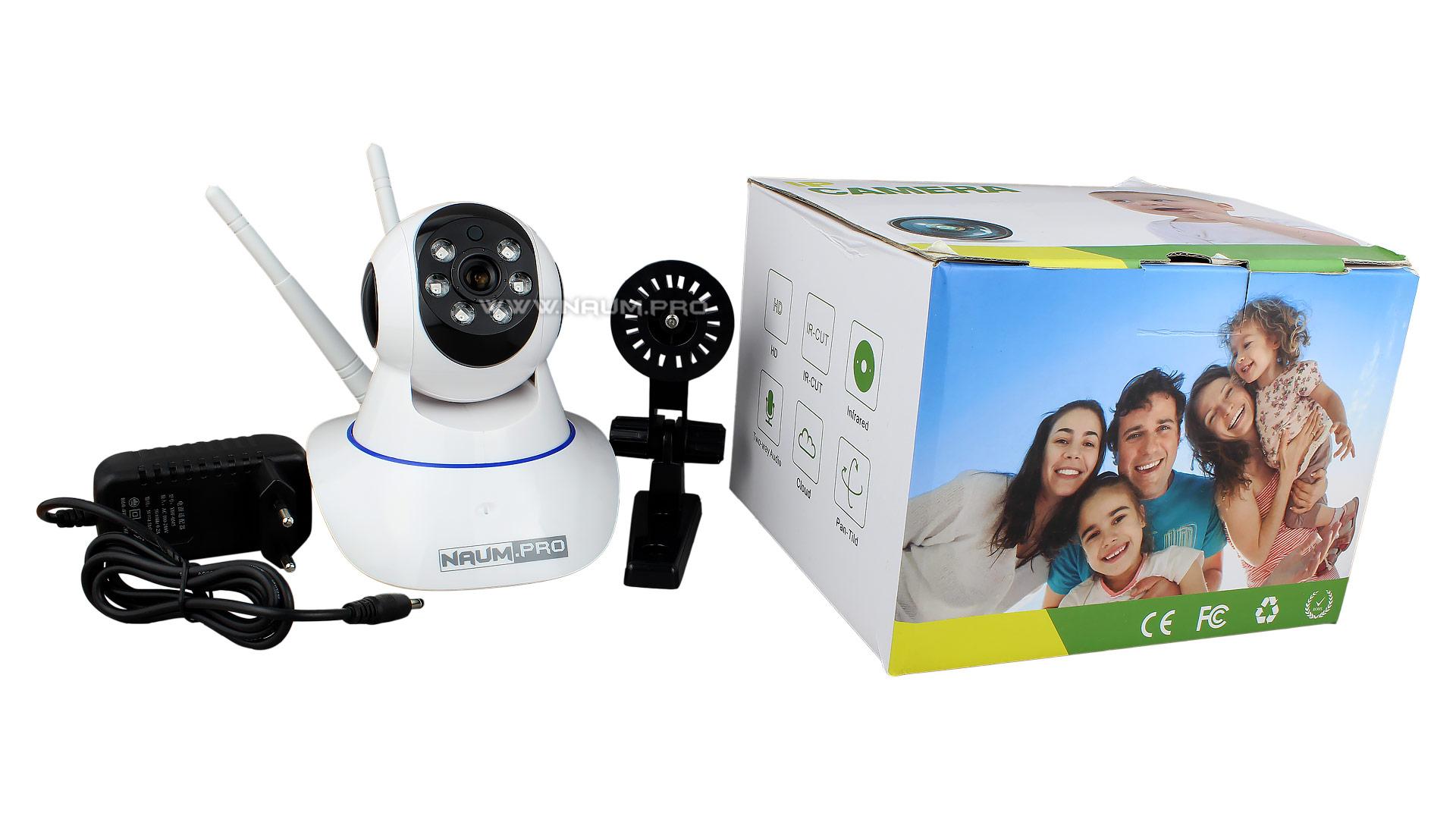 Комплектация поворотной wifi камеры на приложении Yoosee